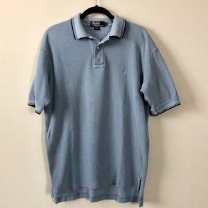 Men's Vintage Blue Polo Shirt, Size L